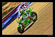 Honda Motorcycles Prints - Alvaro Bautista Print by Blake Richards