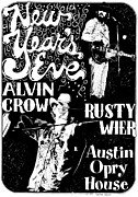 Austin Drawings Framed Prints - Alvin Crow and Rusty Wier Framed Print by Pauline Jacobson
