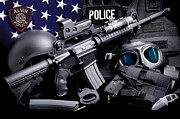 Police Department Framed Prints - Alvin Police Tactical Framed Print by Gary Yost
