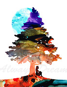 Always Dream - Inspirational Art By Sharon Cummings Print by Sharon Cummings