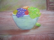 Purple Grapes Pastels Prints - Always Serving Print by Tammy Rainey