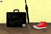 Converse Digital Art - Always...Rebel.... by Andy Heavens