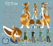 Tomboy Digital Art - Alymae Reference Sheet by Alyshia Ingles