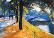 Berlin Art - Am Landwehrkanal Berlin 1920 by Stefan Kuhn