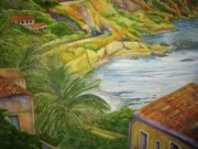 Sicily Paintings - AM Taormina by Kandy Cross