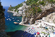 Southern Italy Framed Prints - Amalfi Coast Beach Framed Print by George Oze