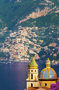 Tiled Framed Prints - Amalfi Coast Framed Print by Brian Jannsen