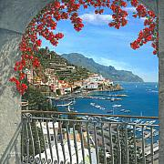 Realist Paintings - Amalfi Vista by Richard Harpum