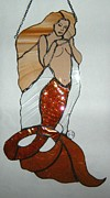 Mermaid Glass Art - Amanda by Nora Solomon