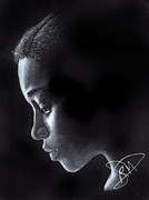 Charcoal Portrait Posters - Amandla Stenberg Poster by Rosalinda Markle