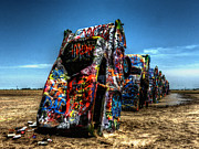 Amarillo - Cadillac Ranch 004 Print by Lance Vaughn