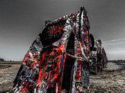 Amarillo - Cadillac Ranch 005 Print by Lance Vaughn