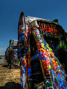Installation Art Framed Prints - Amarillo -  Cadillac Ranch 006 Framed Print by Lance Vaughn