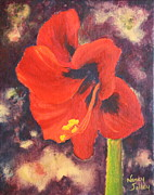 Nancy Jolley Art - Amaryllis 3 by Nancy Jolley