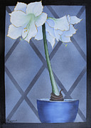 Randall Painting Originals - Amaryllis In Window by Randall Brewer