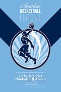 Amateur Basketball League Retro Poster Print by Aloysius Patrimonio