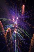 Amazing Beautiful Fireworks Print by Garry Gay