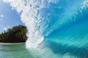 Amazing Blue Wave Print by Quincy Dein