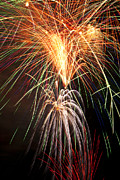 Bursting Prints - Amazing Fireworks Print by Garry Gay