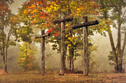 Cemetary Photo Posters - Amazing Grace Poster by Debra and Dave Vanderlaan
