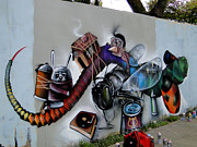 Cuenca Posters - Amazing Graffiti Art Poster by Al Bourassa