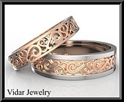 Featured Jewelry - Amazing His and Hers Two Tone Wedding Bands Set by Roi Avidar