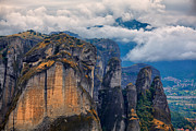 Amazing Landscape Prints - Amazing landscape at Meteora Print by Gabriela Insuratelu