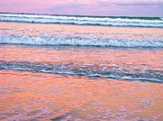 Whangamata Art - Amazing Pink Sunset by Michele Penner