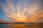 Amazing Sunset Metal Prints - Amazing San Diego Sky Metal Print by Peter Tellone