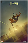 Spiderman Digital Art Prints - Amazing Spiderman  Print by Farhad Tamim