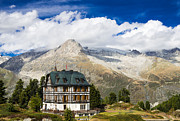 Point Of Interest Framed Prints - Amazing Villa Cassel in the Swiss Alps Switzerland Framed Print by Matthias Hauser