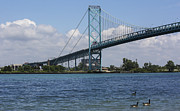 Ambassador Prints - Ambassador Bridge Print by Qing