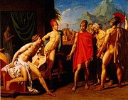 High Society Paintings - Ambassadors sent by agamemnon to urge achilles to fight 1801 by MotionAge Art and Design - Ahmet Asar