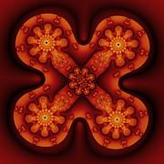 Amber Cross Print by Mark Eggleston