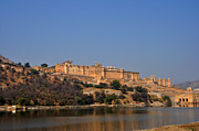 Amber Fort Prints - Amber Fort Jaipur Rajasthan India Print by Diane Lent