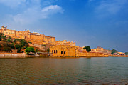 Singh Prints - Amber Fort Print by Mukesh Srivastava