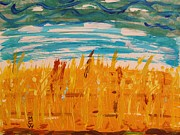 Harvest Drawings - Amber Waves by Mary Carol Williams