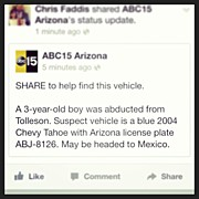 Chris Faddis - #amberalert #arizona