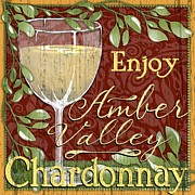 Chardonnay Digital Art Framed Prints - AmberValley Chardonnay Framed Print by Sharon Marcella Marston