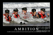 Ambition Photo Metal Prints - Ambition Inspirational Quote Metal Print by Stocktrek Images