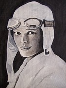 Amelia Earhart Paintings - Amelia Earhart by Amber Stanford