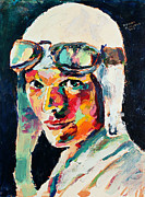 Amelia Earhart Paintings - Amelia Earhart by Derek Russell