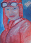 Amelia Earhart Paintings - Amelia Earhart In Search of 1 by Richard W Linford
