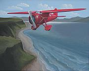 Art Deco Painting Originals - Amelias Lockheed Vega by Stuart Swartz