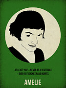 Famous Actors Posters Framed Prints - Amelie Poster Framed Print by Irina  March