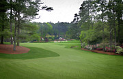 Amen Corner Photos Posters - Amen Corner Augusta Golf Poster by Mark Sanderson