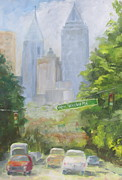 Midtown Painting Posters - Amen Corner Poster by Susan Richardson