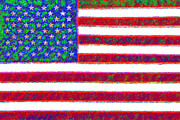 Flag Of Usa Digital Art Prints - America - 20130122 Print by Wingsdomain Art and Photography