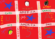 Election Digital Art Posters - America America Poster by Anita Dale Livaditis