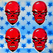 Popart Painting Prints - America  Print by Christopher  Chouinard